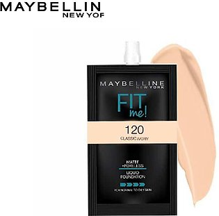 Maybelline Fit Me Foundation Matte and Poreless 5ml Sachet 120