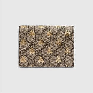 Gucci Supreme Bees Card Case Wallet