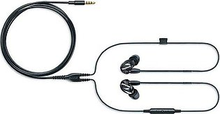 Shure SE215 Sound Isolating Earphones With 3.5mm Cable, Remote And Mic Black