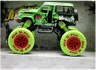 Monster Pull Back Die-Cast Green