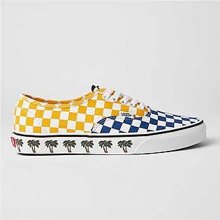 Vans Unisex Authentic Sneakers (Sidewall) Palm Tree/Checkerboard