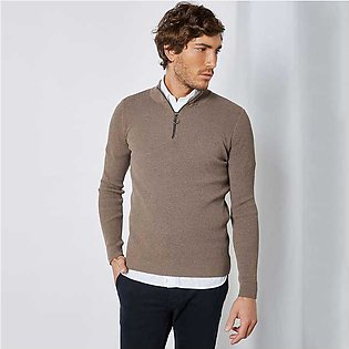 Trendyol Half Zip Sweater Mink for Men
