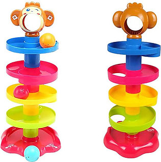 Huanger Baby Roll Ball Stacking Tower Ramp Puzzle for Toddlers