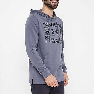 Under Armour Sportstyle Cotton Hoodie Pitch Grey/Black for Men