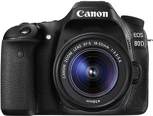 Canon EOS 80D DSLR Camera with 18-55mm Lens With Warranty