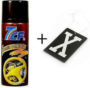 Pack Of 2 - Leather And Tyre Wax - Hanging X Fragrance For Car