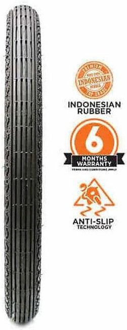 Crown Solo Grip Regular Front Tyre – (100 & 125cc) 2.50-18 6 Ply