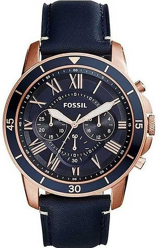 Fossil Men Water Resistant Leather Analog Quartz Watch FS5237