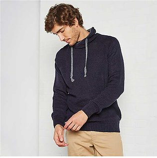 Trendyol Rolled Neck Sweater Navy for Men