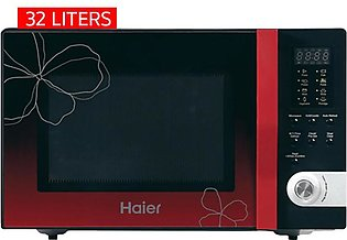 Haier HGN-32100EGB Red Ribbon Microwave Oven 32 Liters with Official Warranty