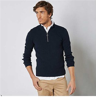 Trendyol Half Zip Sweater Navy for Men