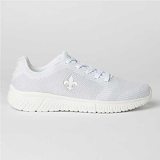 Bond Street By Red Tape Side Logo Sport Shoes White