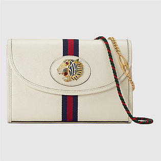 Gucci Rajah White Leather Small Shoulder Bag