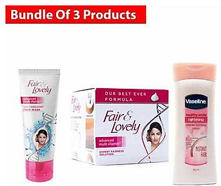 Fair & Lovely Cream Multi Vitamin Jar 70 ML With Fair and Lovely face wash 50 G…