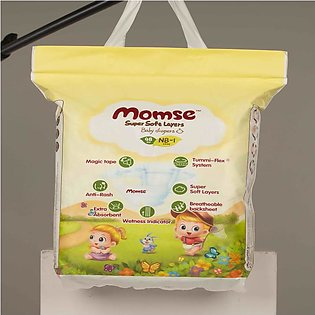 Momse Baby Diapers Size 1 (New Born) 48 Pcs