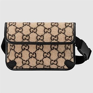 Gucci Beige & Ebony Wool Belt Bag