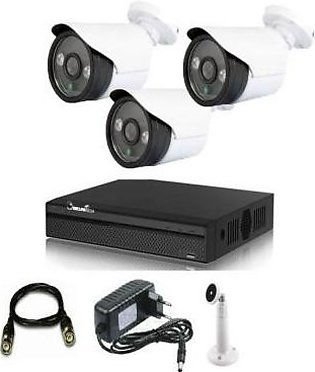 3 Cctv Hd Cameras Complete Kit - 2 Mp -Nightvision-4 Channel Dvr(Ld)