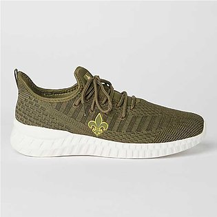 Bond Street By Red Tape Side Logo Sport Shoes Olive