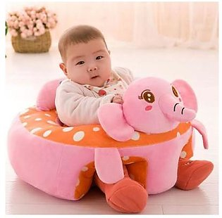 Baby Girls Pink Elephant Seats Sofa Plush Support Seat Learning To Sit Baby Plu…