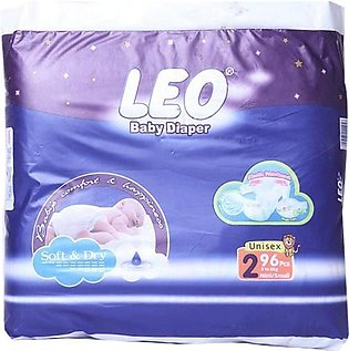 Leo Normal Baby Diapers Size (Small)- 96 Pcs