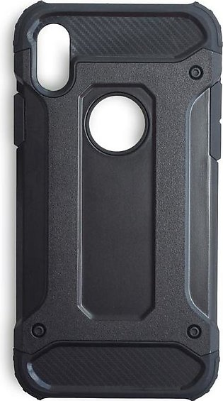 IPhone X Premium Hard/Soft Combo Shell Heavy Duty Cover in Black