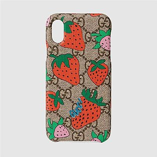 Gucci iPhone X/XS Case With Gucci Strawberry