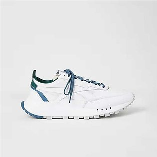 Reebok Classic Leather Legacy Sneakers White Brave Blue/Forest Green