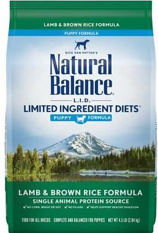 Natural Balance L.I.D. Limited Ingredient Diets Lamb Meal & Brown Rice Dry Dog …