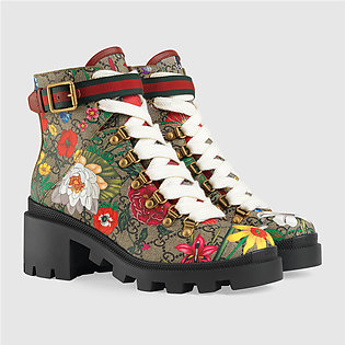 Gucci GG Flora Ankle Boot