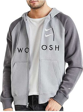 Nike Swoosh Hooded Jacket Grey for Men