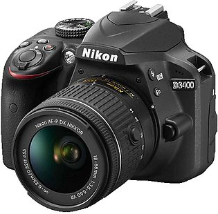 Nikon D3400 DSLR Camera with 18-55mm Lens, 8GB Card,Filter and Bag With Warranty