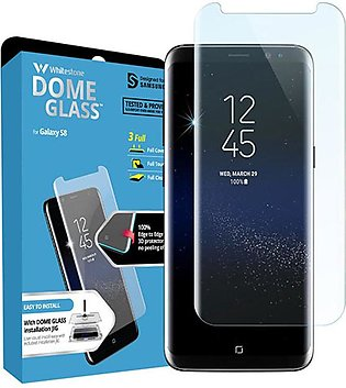 Whitestone Dome Tempered Glass Screen protector with UV For Galaxy S8