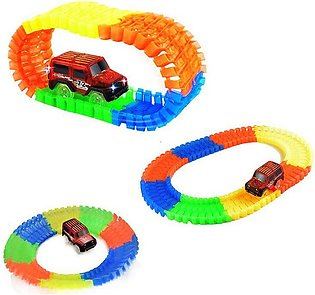 Colorful Track Jeep Truck Track Set