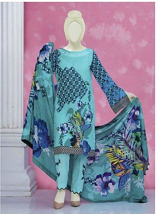 Summer Collection Unstitched Lawn Embroidered 3pc suit with Lawn dupata -615 By…