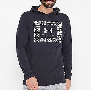 Under Armour Sportstyle Cotton Hoodie Black/White for Men
