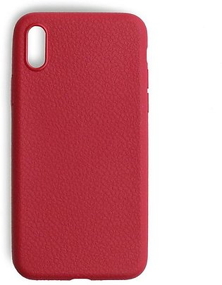 IPhone X Thin Soft Leather Texture Red Cover