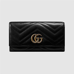 Gucci Marmont Black Continental Wallet