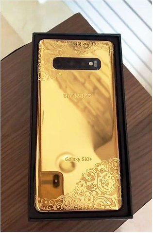 Samsung Galaxy S10 Plus (8GB, 128GB) 24kt Gold Plated (With Authentication Cert…