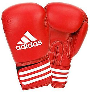 adidas Pair Of Ultima Competition Boxing Gloves Red/White 14ounce ADIBC02
