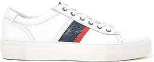 Tommy Hilfiger Men's Fashion Leather Sneakers White