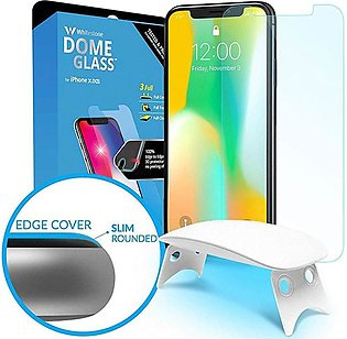 Whitestone Dome Tempered Glass Screen protector with UV For IPhone X