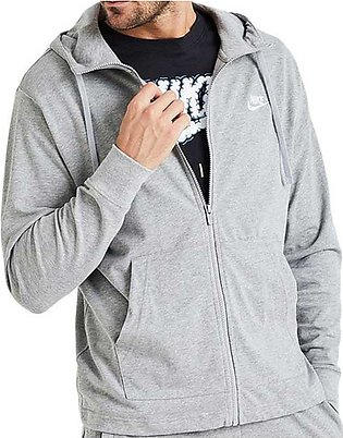 Nike NSW Club Hooded Jacket Grey for Men