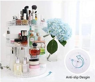 Extra large Acrylic Cosmetics Organizer Storage Rotating Rack For Makeup