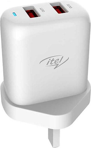 iTel ICU-41 Dual Output 2.4A Fast Charger with Official Warranty