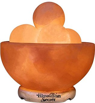 Himalayan Salt Lamp Fire Bowl with Massage ball