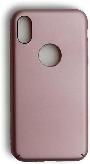IPhone X Premium 4 Layer Hard Shell Cover in Champagne Pink
