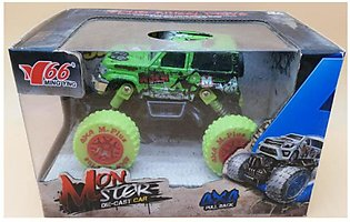 Monster Die-Cast Car 4wd Pull Back Metal 1/30 Alloy Big Wheels Shock Resistant …