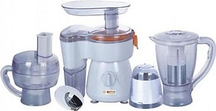 National Gold 2130 Food Processor 8 In 1 White With Official Warranty