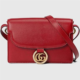 Gucci Small Red Leather Shoulder Bag