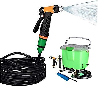 Portable Car Washer with Air Compressor Green